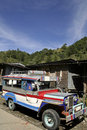Banaue jeepney philipines public transport Royalty Free Stock Images
