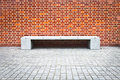 Banc en pierre Images stock