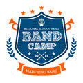 Band camp emblem marching drum corp badge Royalty Free Stock Photos