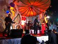 A band playing at a christmas celebration in mumbai india december Royalty Free Stock Image