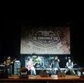 Band rocking on Royalty Free Stock Photo