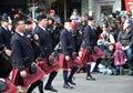 Band in the Santa Parade Royalty Free Stock Photo