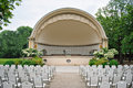 Band shell outdoor amphitheater Royalty Free Stock Images