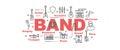 Band vector banner