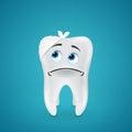 Bandaged sad tooth Royalty Free Stock Photo