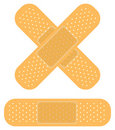 Bandaid on white Royalty Free Stock Image