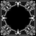 Bandana pattern with goat skull vector of all element are separated Stock Photography