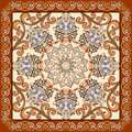 Bandanna  with  ornament in Moroccan style Royalty Free Stock Photo