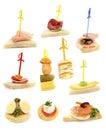 Bandeja com os sanduíches frescos ready-to-eat Imagens de Stock Royalty Free