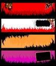 Banderas del grunge de la llama Imágenes de archivo libres de regalías