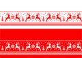 Banderas inconsútiles de la navidad Fotografía de archivo libre de regalías