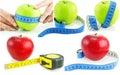 Bandes SET de mesure d'isolement lumineuses de pommes Photos libres de droits