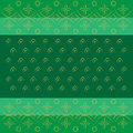 Bandhani bandhej Indian traditional pattern in green Royalty Free Stock Photo