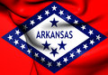 Bandiera dell arkansas Immagine Stock
