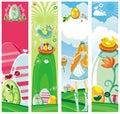 Bandiere verticali di Pasqua Immagini Stock