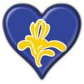 Bandierina di figura del cuore di Bruxelles (Belgio) Fotografia Stock Libera da Diritti