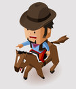 Bandit riding horse vector illustration Stock Image