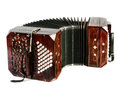 Bandoneon tango instrument closeup on on white background Stock Images