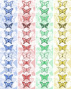 Bands butterfly art design of Royalty Free Stock Photo