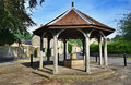 Bandstand in ashford in the water derbyshire view of at england Royalty Free Stock Photo