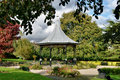 Bandstand in gardens, Grange-Over-Sands, Cumbria Royalty Free Stock Image