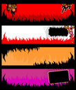Banerflammagrunge Royaltyfria Bilder