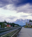 Banff CPR Train Station, Alberta, Canada Royalty Free Stock Photo