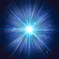 Bang abstract background explosion of the blue star Stock Photo