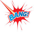 Bang! Comic explosion Logo icon text Royalty Free Stock Images