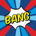 Bang comics icon Stock Photo
