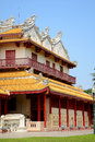 Bang pa in palace in ayudhaya thailand chinese style building at province Royalty Free Stock Photography