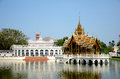 Bang pa in palace in ayudhaya thailand thai style building at province Stock Photography