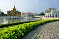 Bang pa royal palace also known as summer palace palace complex formerly used thai kings palace located chao phraya river bank Royalty Free Stock Photos