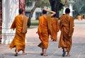 Bang Pa-In, Thailand: Novice Monks Royalty Free Stock Photos