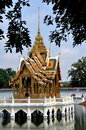 Bang Pa-In, Thailand: Summer Palace Pavilion Royalty Free Stock Images
