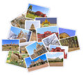 Bangalore city india collages photo photos of tourist attraction at in shape of map on white background Stock Photography
