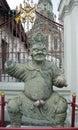 Bangkog wealth of sculptures monkey king Stock Photography