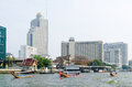 Bangkok asian venice feb some pleasure boats sail on chao phraya river near ssumption college feb thailand is nicknamed Royalty Free Stock Image