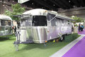 Bangkok august airstream classic car on display at big motor sale in thailand Stock Image