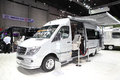 Bangkok august mercedes benz car modify by airstream on di display at big motor sale in thailand Stock Image