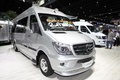 Bangkok august mercedes benz car modify by airstream on di display at big motor sale in thailand Stock Photography