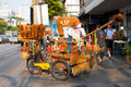 Bangkok Brush Delivery Bike Royalty Free Stock Photography