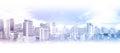 Bangkok business city aerial view Royalty Free Stock Photo