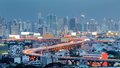 Bangkok city highway curved Royalty Free Stock Photo