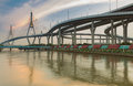 Bangkok city Industrial Ring highway with water reflection Royalty Free Stock Photo