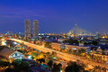 Bangkok city at twilight thailand Royalty Free Stock Image