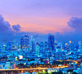 Bangkok city at twilight time Royalty Free Stock Photos