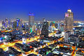 Bangkok city urban skyline at night thailand Royalty Free Stock Photography