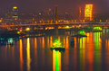 Bangkok cityscape at nighttime Royalty Free Stock Photos