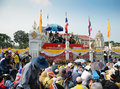 Bangkok dec protesters attend a large anti government outside government house on december in thailand Royalty Free Stock Photos